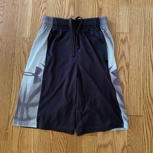 Black and gray under armour boys shorts